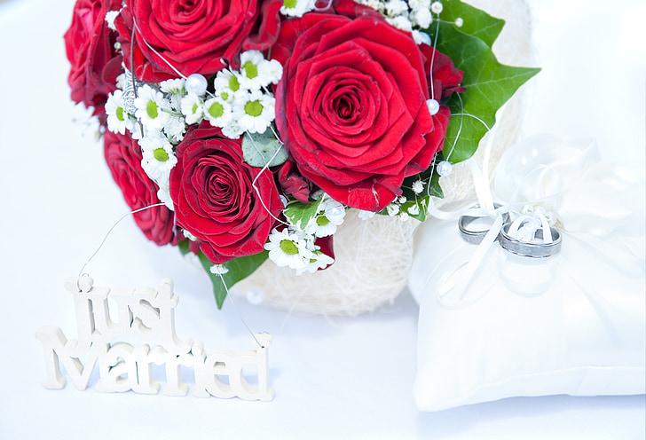 Rosas, ramo de novia, ramo de la boda, boda