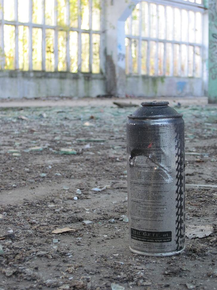 bomboletta spray, Graffiti, Shard, sporco, detriti, finestra