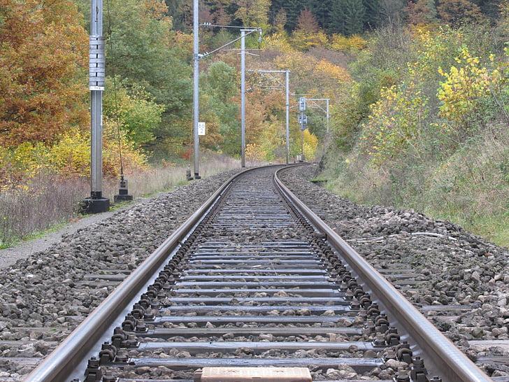 Via del tren, tren, pistes, ferrocarril, carrils, transport