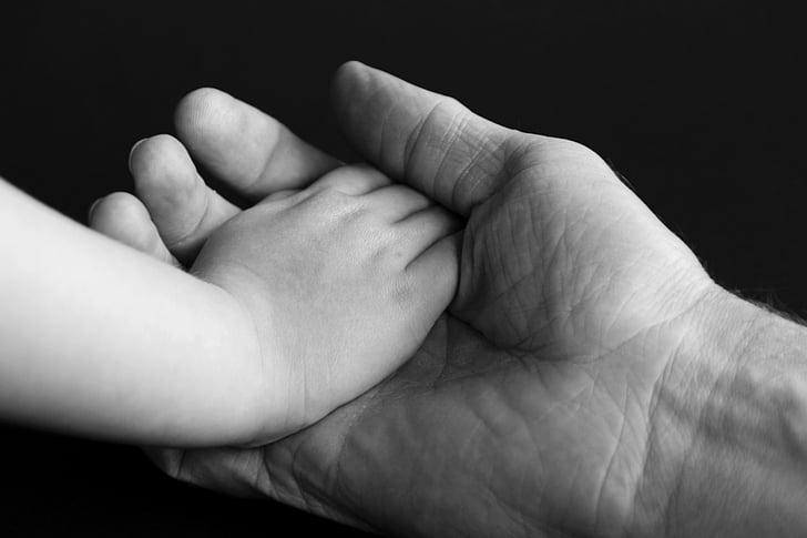 käsi, käed, usalduse, lapse käsi, naha, kinnipidamise, vastutus