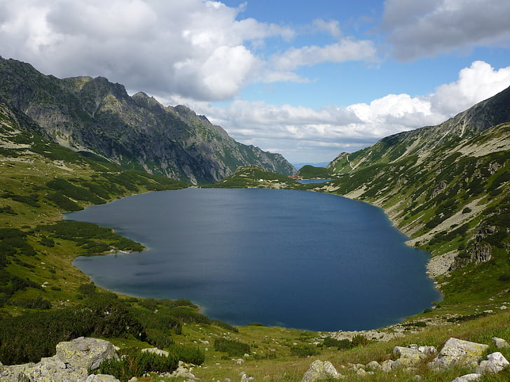 valley of five ponds, tatry, mountains, hiking trails, the high tatras, pond, mountain ponds