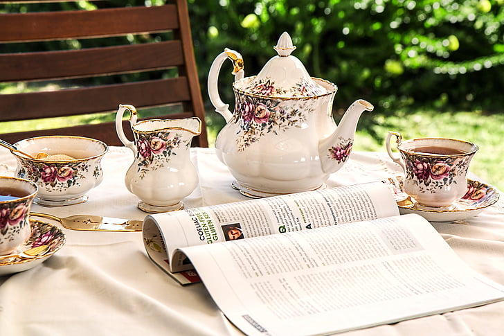 čaj, čaj vrijeme, čajnik, kup, piće, napitak, popodne