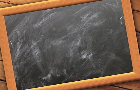 school, board, empty, slate, blackboard, chalk, writing board
