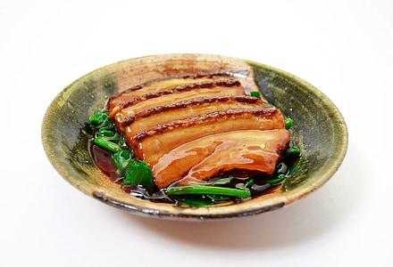 Dong po rou, cibo cinese, piatto, carne di maiale, Kakuni, carne, parte posteriore di bianco