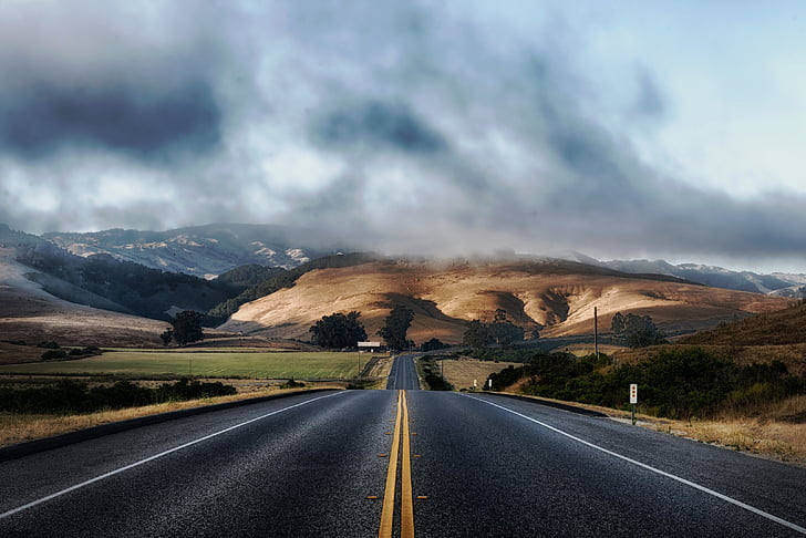 california, road, highway, mountains, landscape, scenic, rural