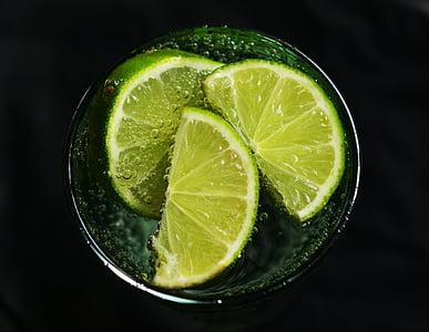 calç, l'aigua, refresc, desintoxicació, vitamines, beguda, aigua de desintoxicació