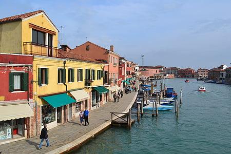 เวนิส, เกาะมูราโน่, อิตาลี, มูราโน่, เรือ, เรือ, ท่าเรือ