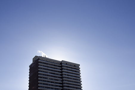 arsitektur, biru, bangunan, pencakar langit, langit, pencakar langit, struktur yang dibangun