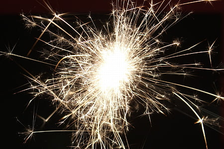 sparkler, radio, mood, new year's eve, golden, light