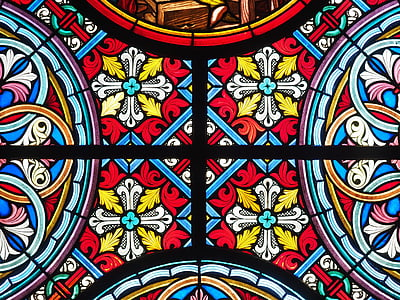 vitralii, fereastra, colorat, culoare, Biserica, fereastră de sticlă, geam