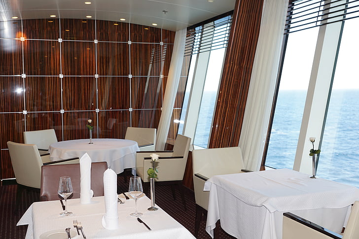 matbord, restaurang, äta, gastronomi, Aida, fartyg, resor