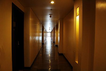 passadís d'Hotel, Hotel, passadís, llums, Habitacions de l ', paret, llum