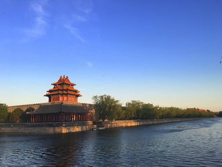 turret, twilight, the forbidden city