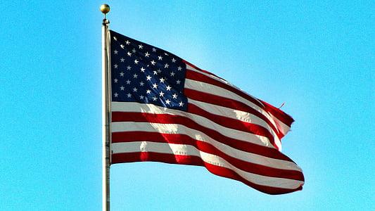 lá cờ, Hoa Kỳ, Dom, Ngày 04 tháng 7, màu đỏ, trắng, và màu xanh