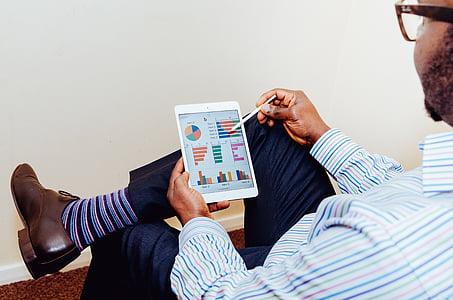 inzerce, Analýza, Analytics, businesman, obchodní, grafy, barevné