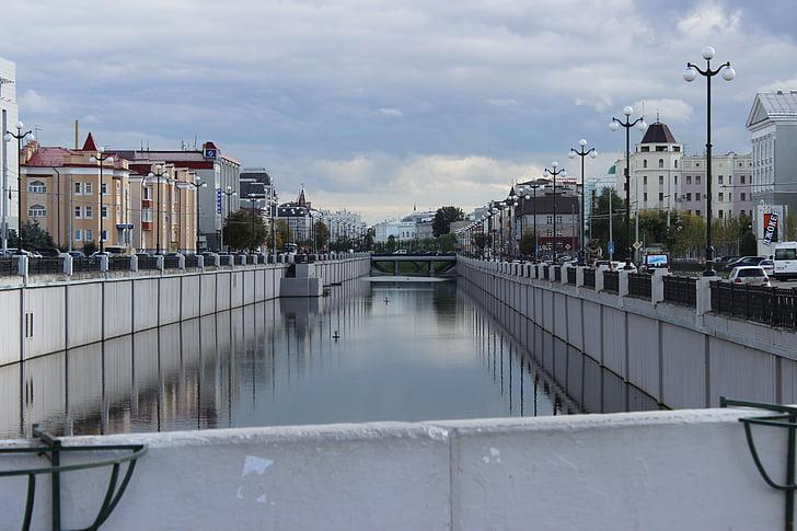 water, bridge, city