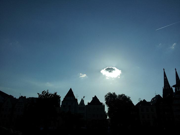 Cologne, awan, langit
