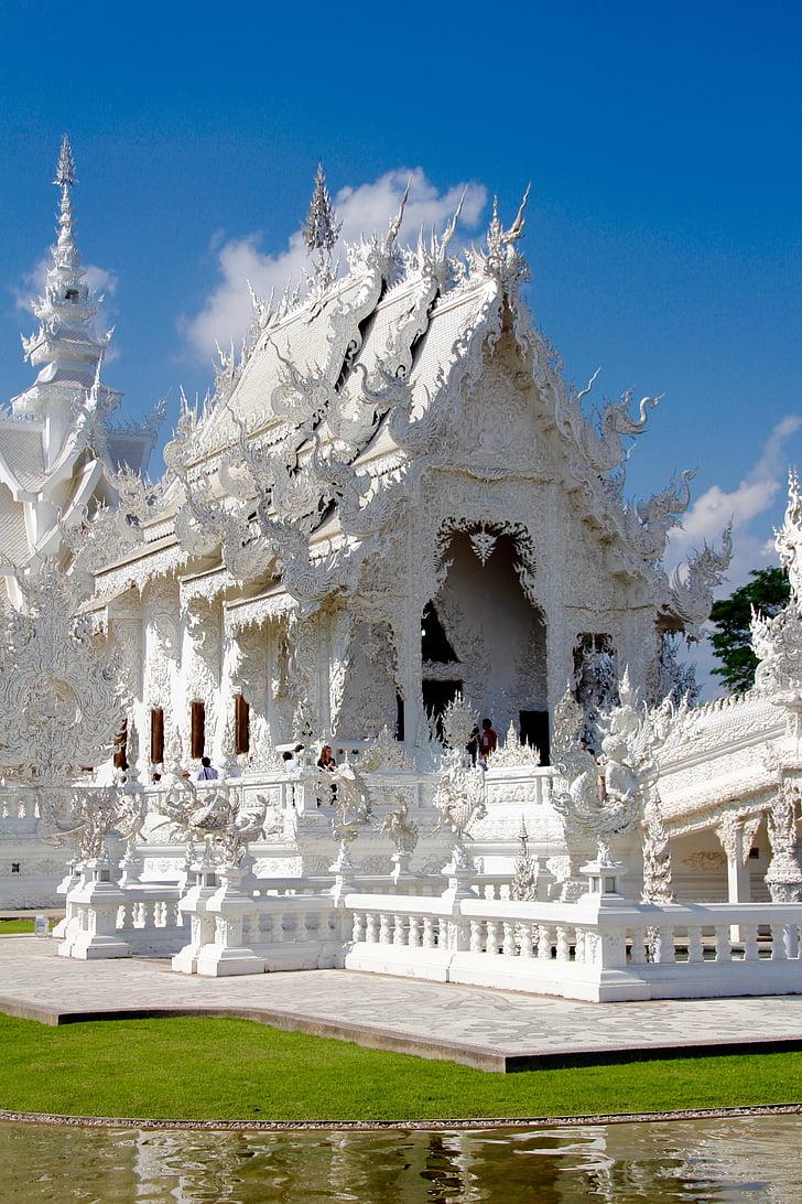 Wat Rong khun, Tempel, Thailand, weißen Tempel, Chiang rai, Buddhismus, Drachen