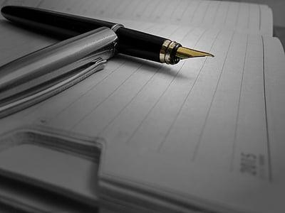 giấy, Nhật ký, máy tính xách tay, bút, bằng văn bản, tạp chí, mực in