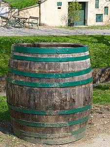 tonneau de vin, baril, Burgenland, tonneaux de vin, barriques, stock, vin rouge