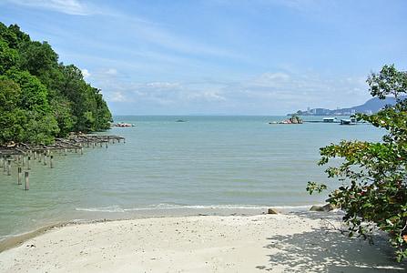 Penang, Malàisia, Parc Nacional, tropical, platja, tròpics, sorra blanca