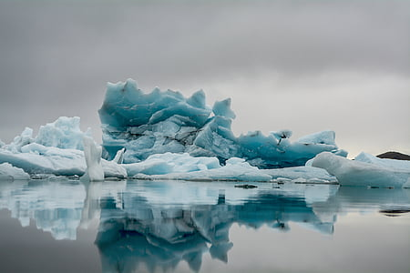 nature, water, reflection, cold, ice, berg, polar