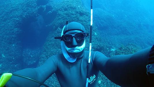 plava, Dubinsko ronjenje, duboko more, roniti, ronjenje, oceana, strast
