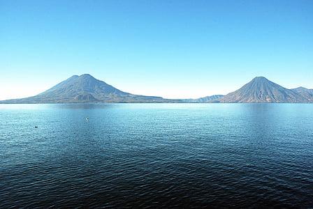 Llac atitlán, Guatemala, volcans, volcà, Mt fuji, Japó, muntanya