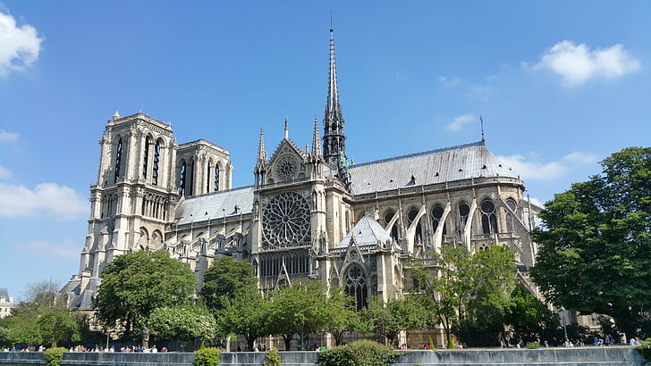 notre, dame, cathedral, church, gothic, paris