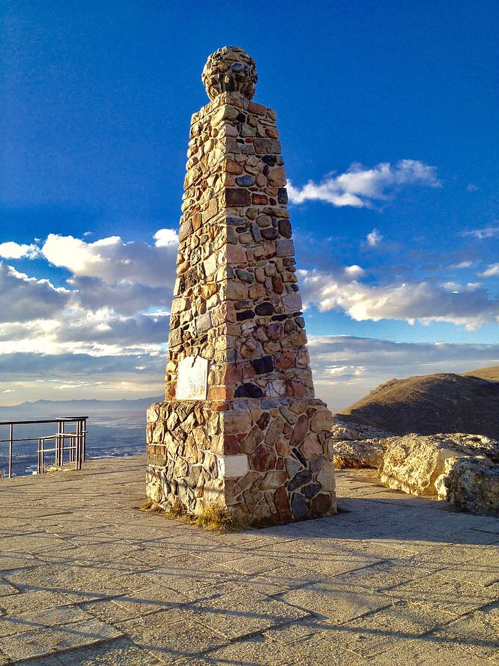 alferes, pic, Bloomfield Hills, arquitectura, història, Mormó, muntanya