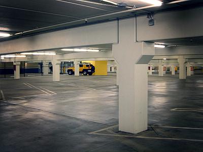 parking lot, parking deck, basement garage, subterranean garage, underground parking, underground garage, underground parking lot