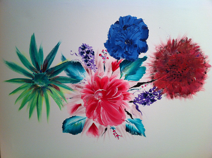 image, painting, wild, flower, wild plants, summer flowers, pink