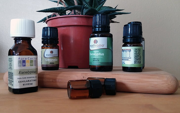 essential oil, essential, oils, bottles, aromatherapy, eucalyptus, citronella