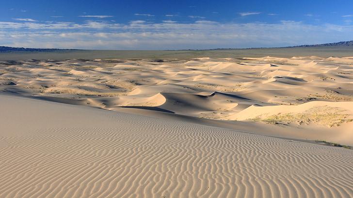 Mongolija, pustinja, struktura, pustinjski krajolik, pješčane dine, pijesak, priroda