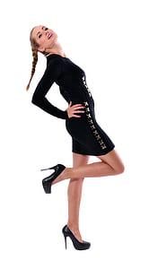 model de, Modelització, atractiu, moda, femella, Retrat, jove