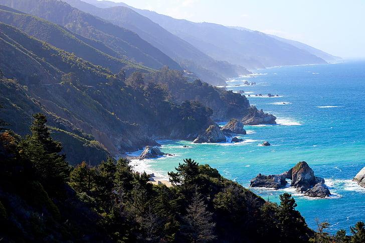Big sur, California, Vaikse ookeani, rannikul, Ocean, maastik, Drive