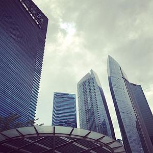 bangunan, Singapura, modern, Kota, pencakar langit