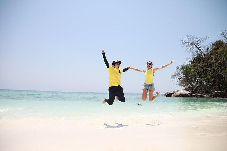 пляж, узбережжя, пара, Природа, океан, на відкритому повітрі, люди