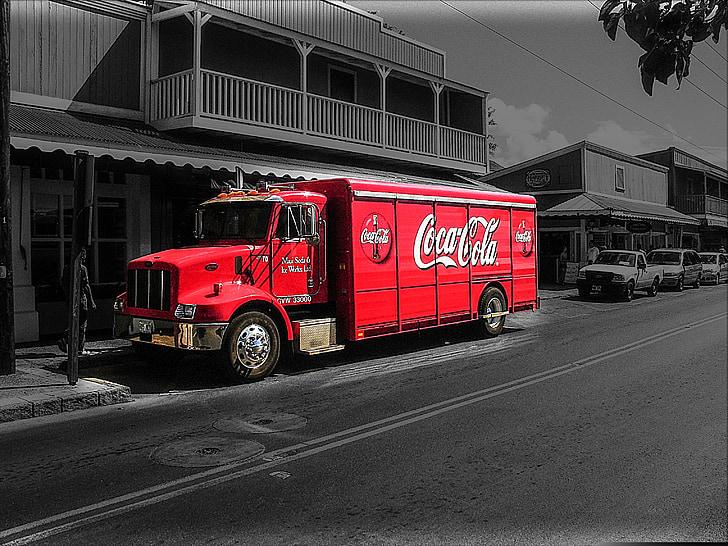 Coca cola, kokss, Amerika, Hawaii, lielais iland, Lahaina, vaļu medības