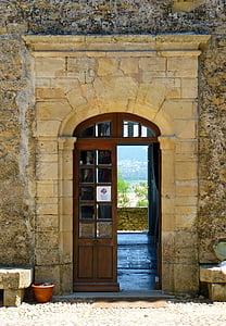 porta, ex, entrada, antiga porta, medieval, fusta porta, porta principal