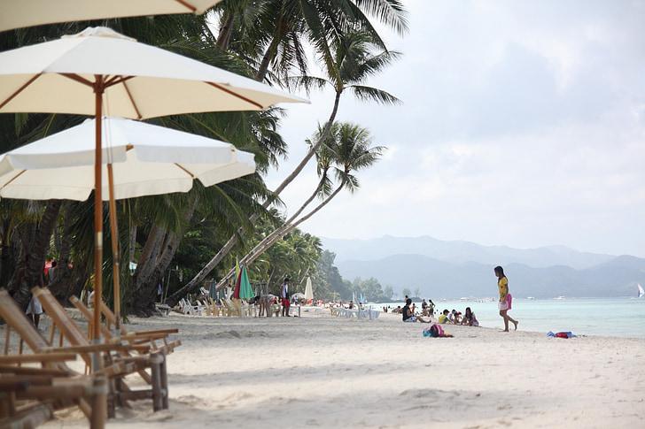Boracay beach, pláž, obloha