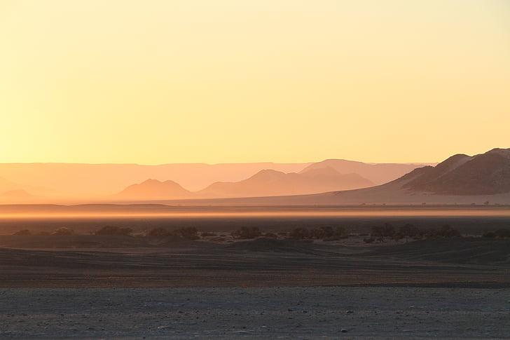 vento, sol, deserto, ampla, areia, em branco, Visão
