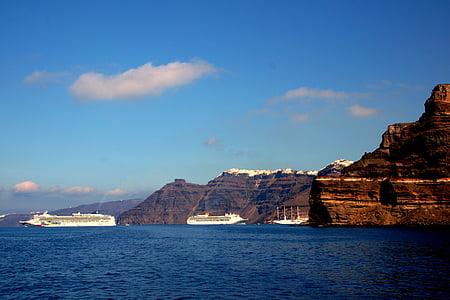 Santorini, Grčki otok, Cyclades, Caldera, Bijele kuće, Grčka, Vulkanski