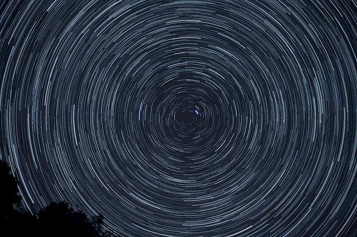 tid, forfalle, fotografi, Star, himmelen, plass, sirkel