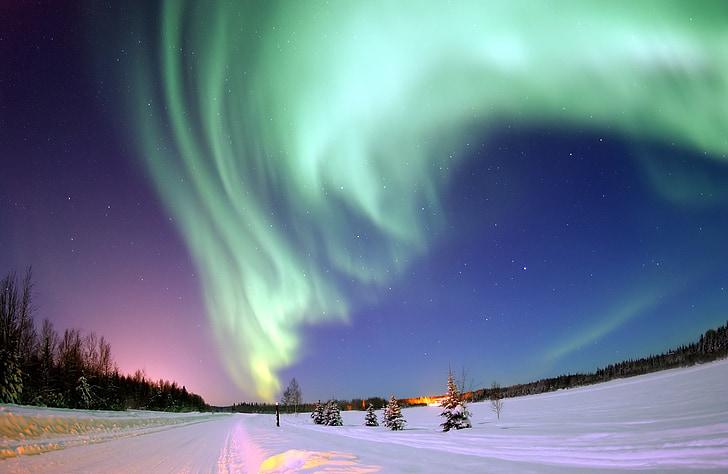 Aurora, nordlys, Nordpolen, Aurora australis, suedlicht, elektrisk meteor, lys fænomen