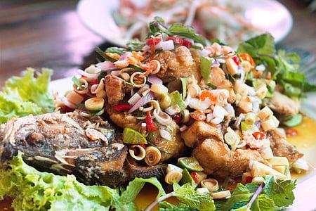 peix, aliments, alevins, llimona, deliciós, Sa, marisc
