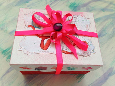 gift box, present, ribbon, celebration, birthday, package, wrapping