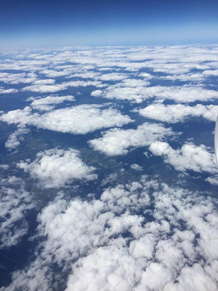 облака, небо, небо облака, Горизонт, Голубое небо