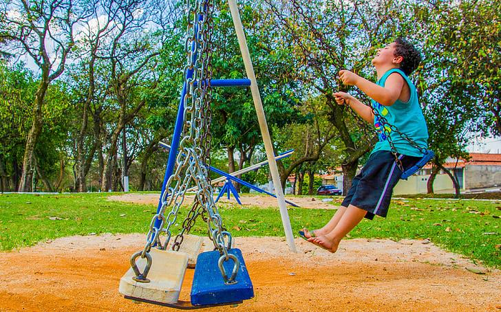 cân bằng, trẻ em, Sân chơi trẻ em, trẻ em ngày