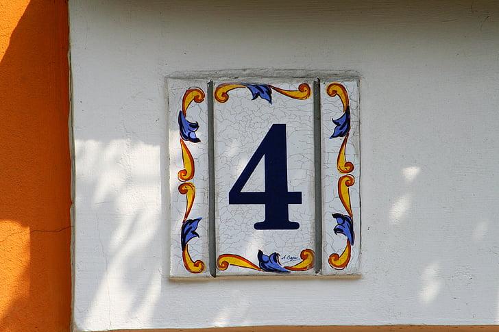 house, address, 4, four, decoration